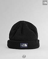 Шапка мужская зимняя теплая качественная черная The North Face Salty Dog Beanie, фото 1