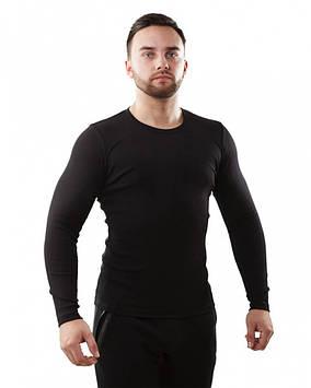 Чоловіча бавовняна термофутболка в чорному і білому кольорі (розміри S-3XL) Чорний, S