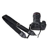 Универсальный плечевой шейный ремень для фотоаппаратов с карманом для карт памяти и др. (неопрен)