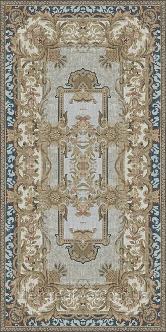 Керамічний граніт Декор Орнамент беж обрізний 119,5х238,5, TG\A09\SG5918R