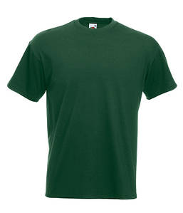 Мужская футболка Super Premium S Темно-Зеленый (Бутылочный)