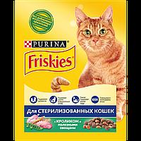 Friskies сухой корм для стерилизованных кошек, с лососем и овощами 10КГ