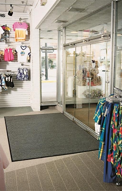 Ворсистый коврик на резиновой основе, 600х900мм, серый