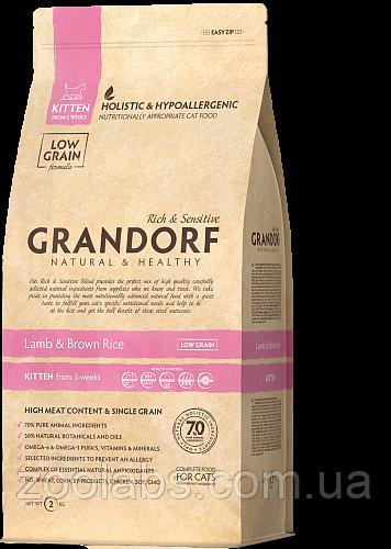 Корм Grandorf для кошенят з ягням   Grandorf Lamb & Rice Kitten 0,4 кг