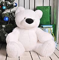 Медведь сидячий «Бублик» белый