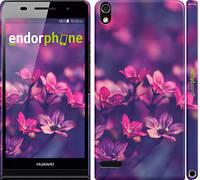 """Чохол на Huawei Ascend P6 Пурпурні квіти """"2719c-39"""""""