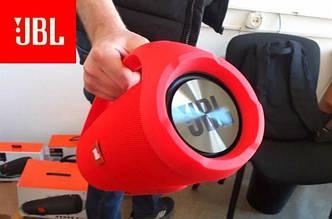 Портативная Bluetooth колонка JBL BOOMBOX BIG с пластиковой ручкой, копия (КРАСНЫЙ ЦВЕТ)
