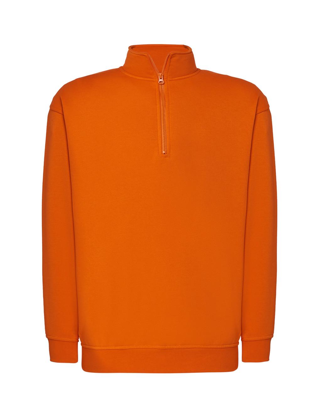 Мужская толстовка JHK HALF ZIP SWEATSHIRT цвет оранжевый (OR)