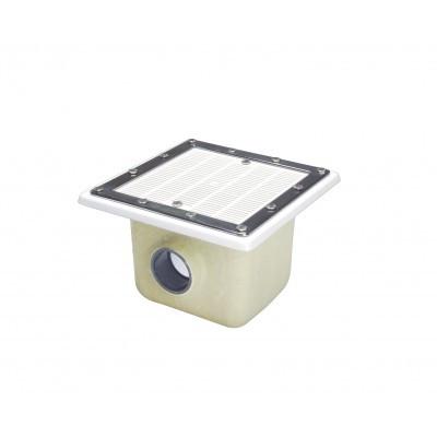 Донний злив для басейну Fluidra Іспанія 355x355 мм.,плівка D75., ABS-пластик