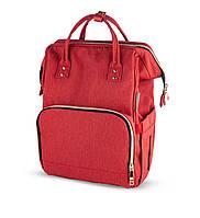 """Рюкзак для мамы """"Lady Mum"""" многофункциональный Canpol babies (красный)"""