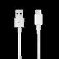 Швидке зарядний пристрій LP AC-009 USB 3А Quick Charge + кабель USB Type-C 1м (Білий)/OEM
