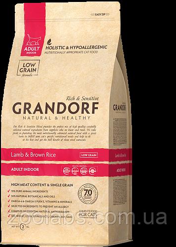 Корм Grandorf для кошек с ягненком | Grandorf Lamb & Rice Adult Indoor 0,4 кг