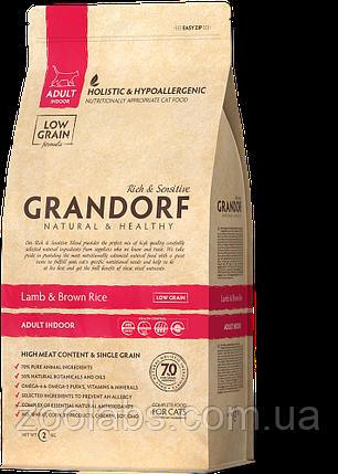 Корм Grandorf для кошек с ягненком | Grandorf Lamb & Rice Adult Indoor 0,4 кг, фото 2