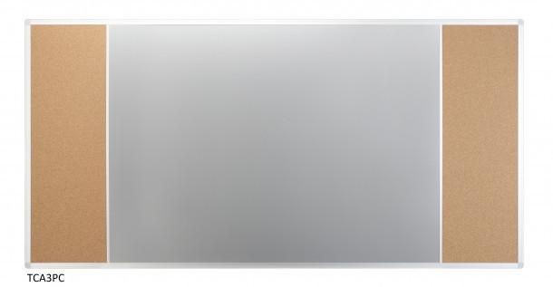 Доска Комби 2x3 лакированная магнитно-маркерная + пробковая поверхность 170 x 100 см