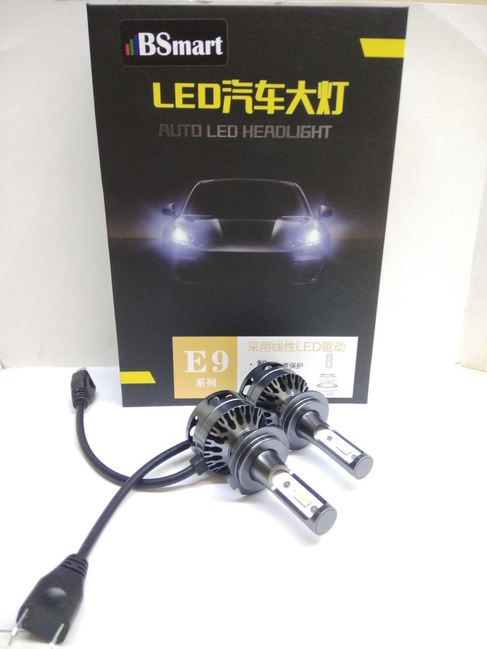 Комплект LED автоламп E9 H7 диод CSP 10000Лм 80Вт 6000K Canbus