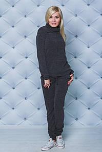Костюм женский из шерсти свитер+штаны антрацит