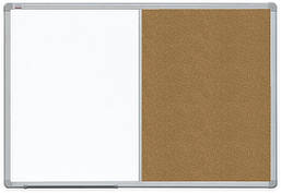 Доска Комби 2x3 лакированная магнитно-маркерная + пробковая поверхность 60 x 90 см