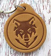 Брелок кожаный Волк, фото 1