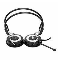 ✿Проводная гарнитура CROWN CMH-943 Серебристый с встроенным микрофоном накладные наушники для ПК