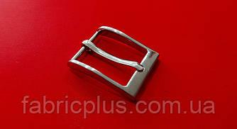 Пряжка мужская классическая  2.6 см никель 1 прокол