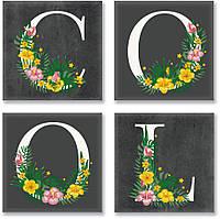 Набор для росписи по номерам COOL лофт 18x18 см4 шт CH115
