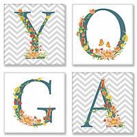 Набор для росписи по номерам YOGA Скандинавский стиль 18x18 см CH117