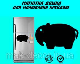 """Магнітна дошка на холодильник """"Слон"""" XL (30х45см)"""
