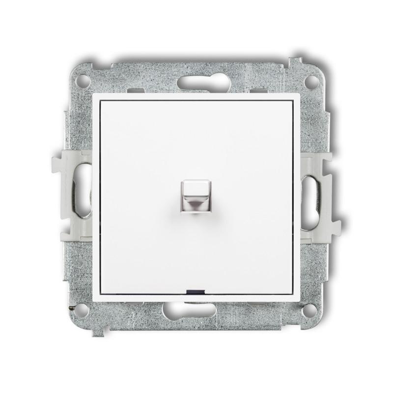1-кл. выключатель Karlik Mini белый MWPUS-1 американский 10А кнопочный внутренний | механизм одноклавишный