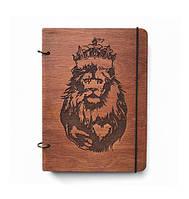 """Блокнот А5 из дерева """"LION"""""""