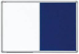 Доска Комби 2x3 лакированная магнитно-маркерная + текстильная поверхность 60 x 90 см