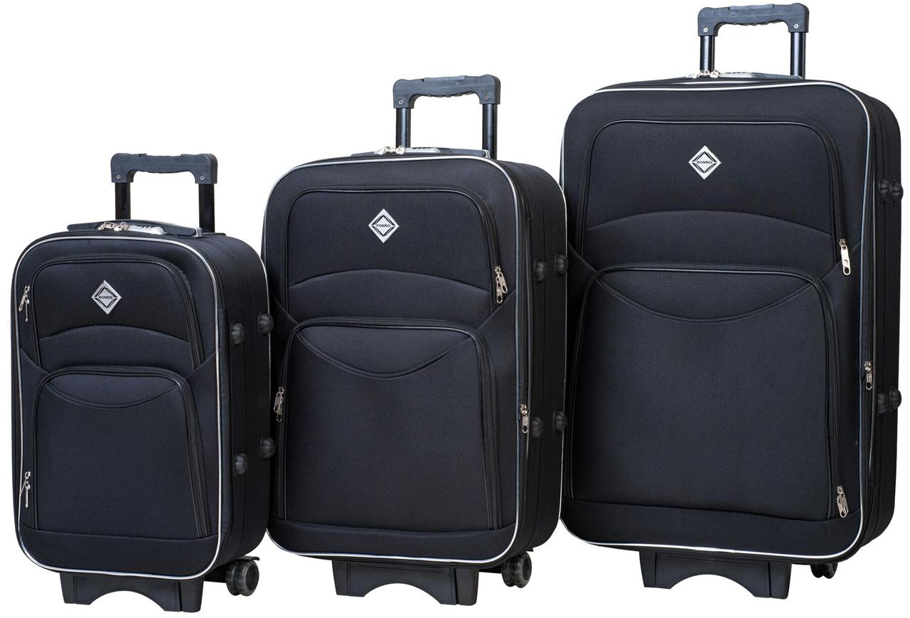 Набір валіз Bonro Style 3 штуки чорний (10010300)