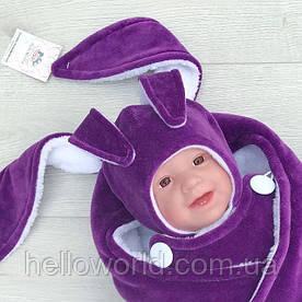 Шапочка зайка фиолетовая