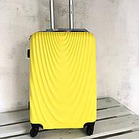 Большой Чемодан Wings 304 из поликарбоната L ( 110литров) на 4-х колесах с расширителем Желтый
