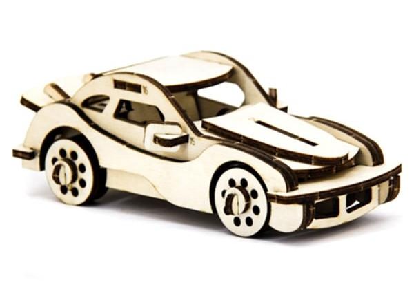 Дерев'яний 3Д пазл Автомобіль легковий, ДРЛ105-4