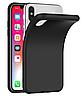 Черный силиконовый чехол iPhone X / Xs