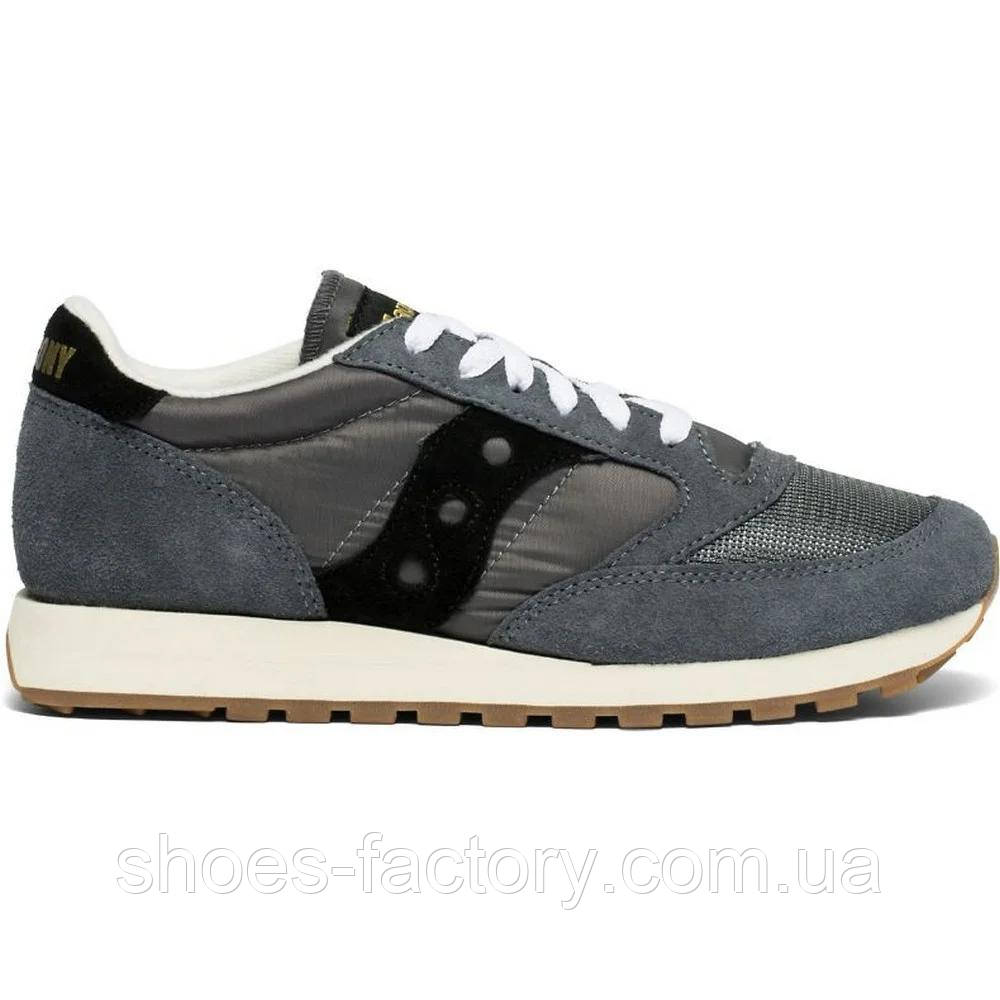 "Кроссовки мужские Saucony Jazz Original Vintage ""Grey/Black"" 70368-86s (Оригинал)"