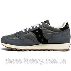 "Кроссовки мужские Saucony Jazz Original Vintage ""Grey/Black"" 70368-86s (Оригинал), фото 3"