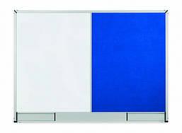 Доска Комби 2x3 StarBoard лакированная магнитно-маркерная + текстильная поверхность 90 x 120 см