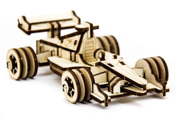 Дерев'яний 3Д пазл Автомобіль Формула 1, ДРЛ105-5