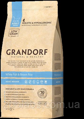 Корм Grandorf для кошек с белой рыбой | Grandorf White Fish & Rice Adult Sensitive 0,4 кг