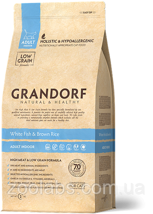 Корм Grandorf для кошек с белой рыбой | Grandorf White Fish & Rice Adult Sensitive 0,4 кг, фото 2