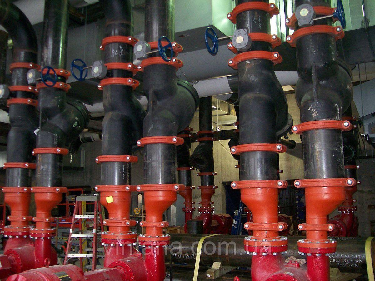 Монтаж муфтовых бессварных соединений в системах пожаротушения