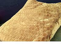 """Плед из микрофибры золотистого цвета """"Брусчатка"""", фото 1"""