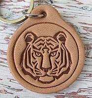Шкіряний Брелок Тигр, фото 1