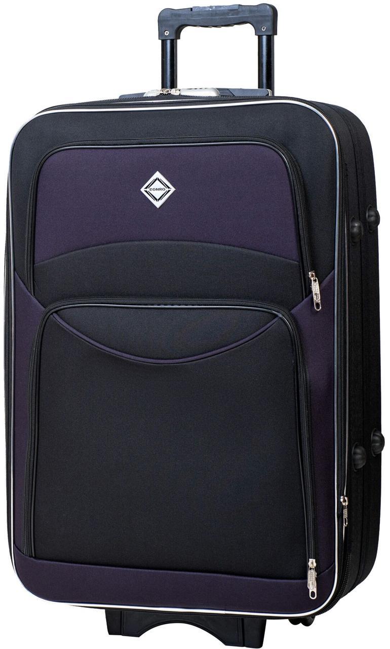 Валіза Bonro Style велика чорно-т.фіолетова (10012711)