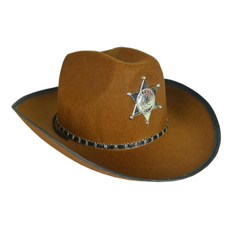 Капелюх  Ковбоя - Шерифа, коричневий, Хелловін, Шляпа Шерифа