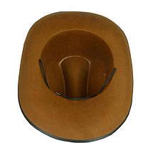Капелюх  Ковбоя - Шерифа, коричневий, Хелловін, Шляпа Шерифа, фото 3
