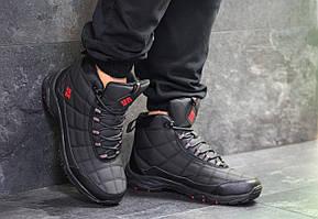 Высокие мужские кроссовки Columbia,черные с красным