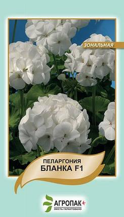 Семена Пеларгония Бланка F1 белая 5 сем Cerny 5113, фото 2