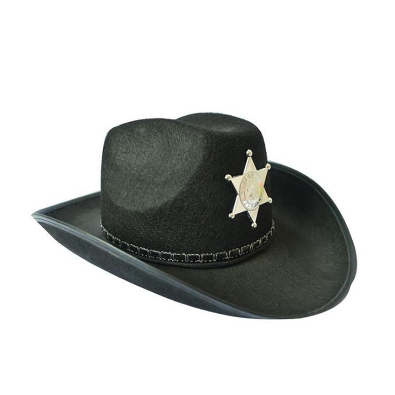 Капелюх Ковбоя - Шерифа, чорний, Хелловін, Шляпа Шерифа